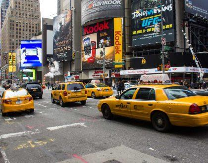 تست کنترل ترافیک توسط تاکسی های نیویورک